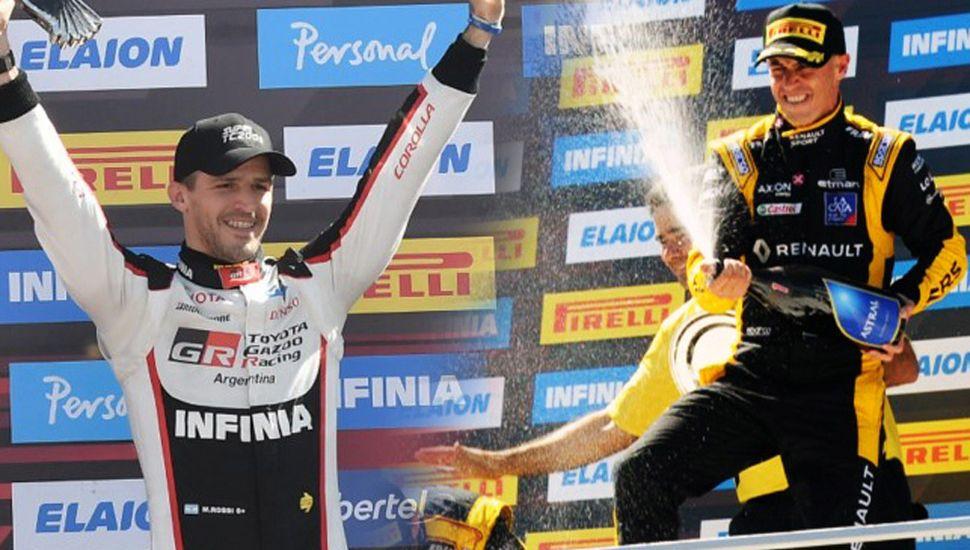 Matías Rossi (izquierda) y Leonel Pernía.