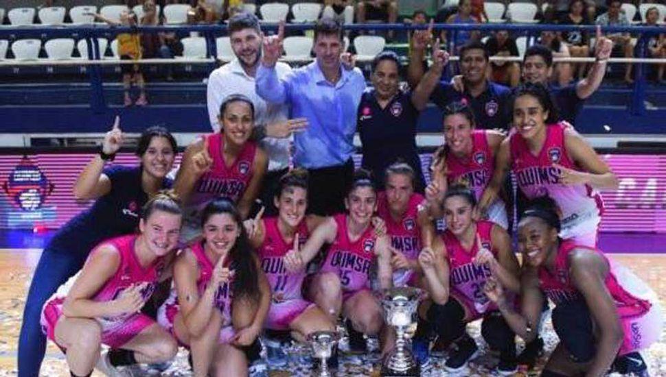 El equipo de Quimsa de Santiago del Estero que venció a Berazategui.