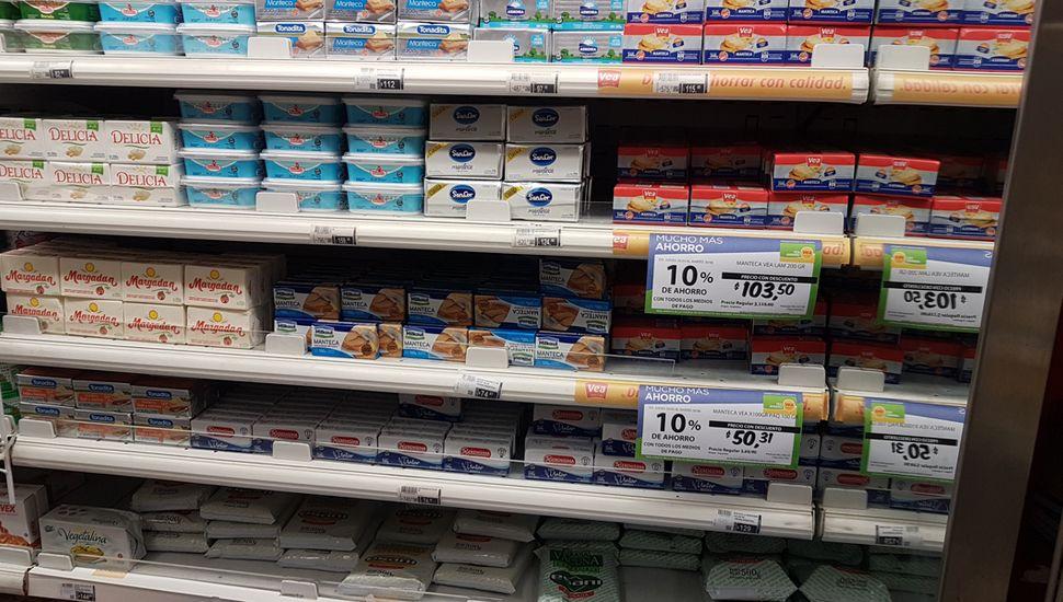 Los lácteos, uno de los productos que experimentó aumentos de precios.