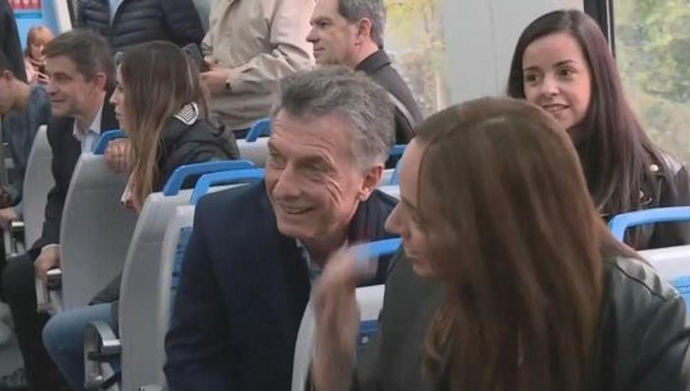 Mauricio Macri inauguró el viaducto del tren Mitre junto a María Eugenia Vidal