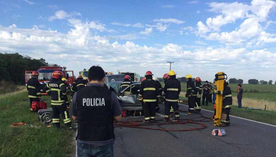 La policía intervino la ruta tras el lamentable accidente.