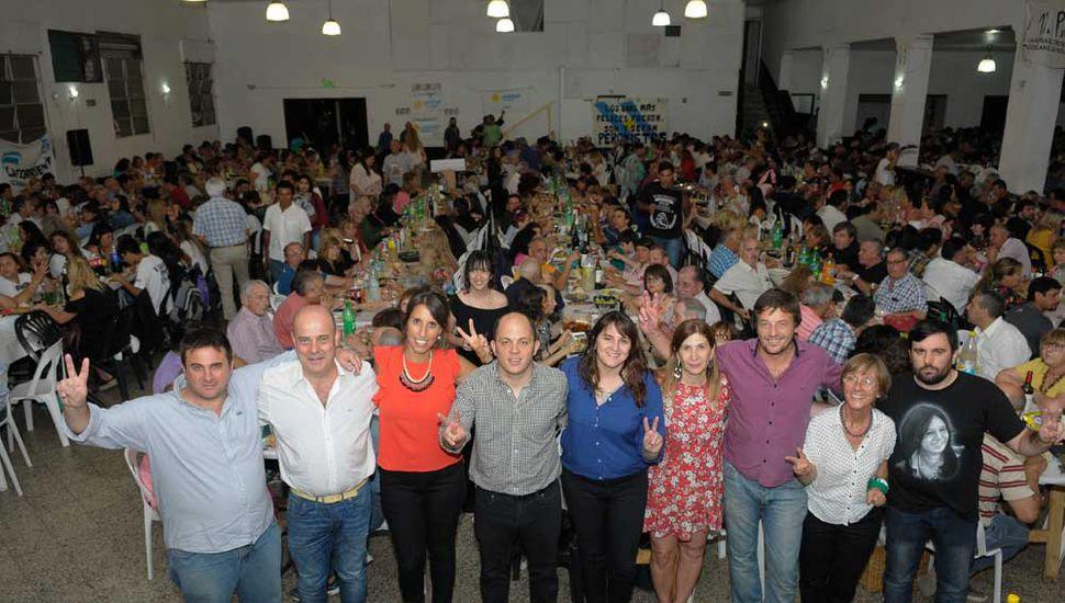 Con una concurrida cena en el club Moreno, Unidad Ciudadana cerró el año.