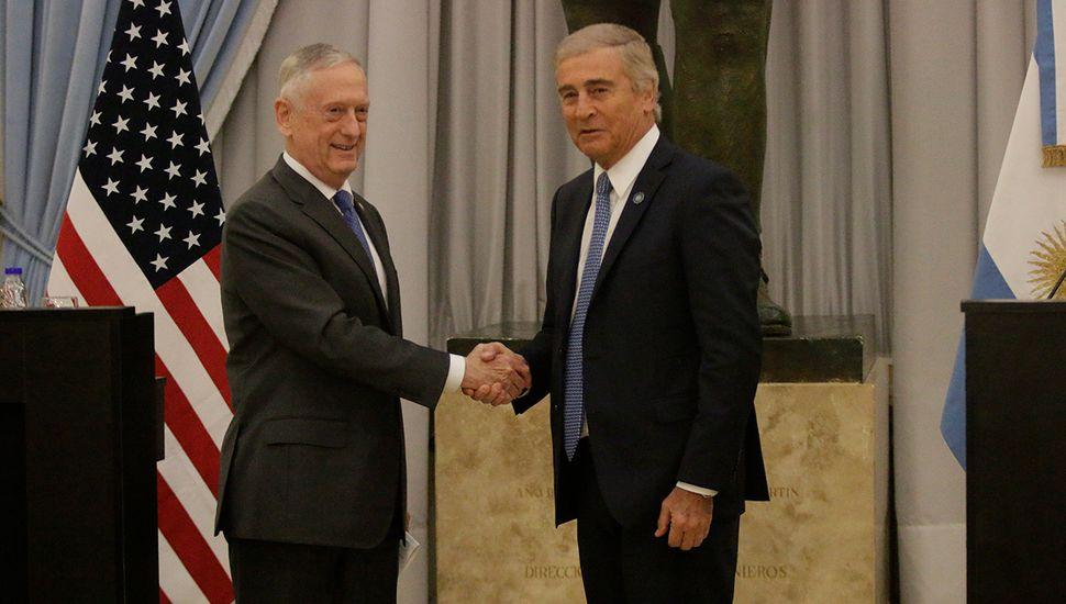 """Defensa de EE. UU. calificó a Argentina  como """"un socio"""""""