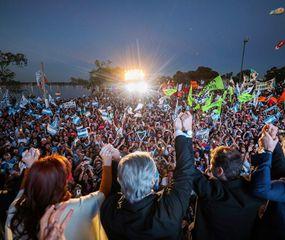 Alberto F. y Cristina celebraron juntos el Día de la Lealtad, en un acto que encabezaron en Santa Rosa, La Pampa.