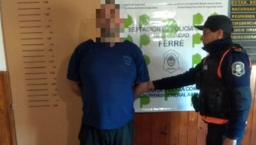 Aprehendieon a un hombre de 34 años en Arenales