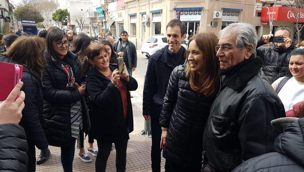 La gobernadora Vidal se encuentra recorriendo Junín