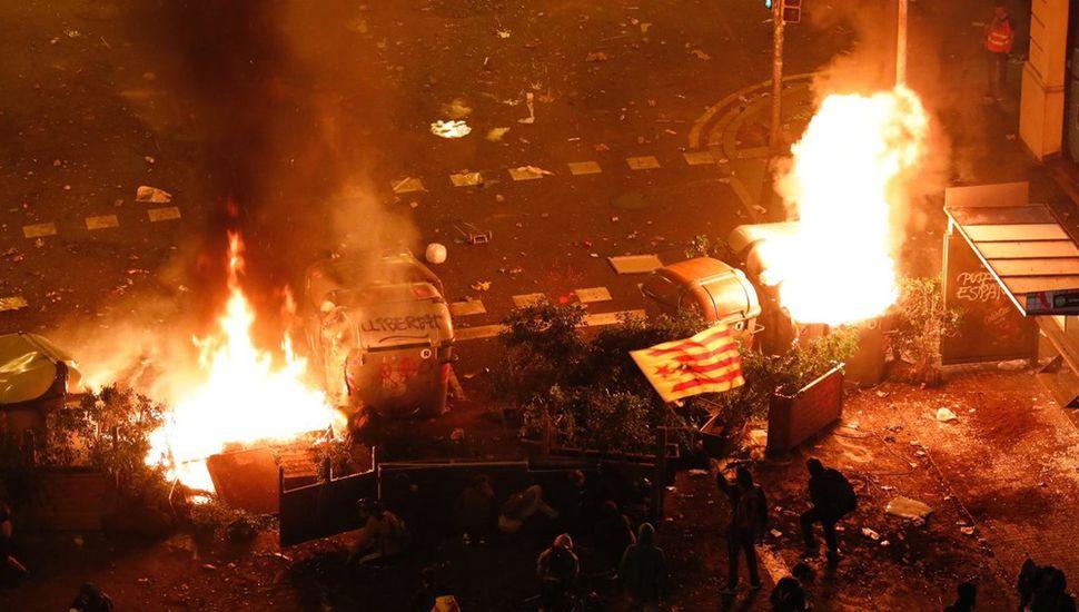 Marcha independentista: hubo enfrentamientos con  la policía en Barcelona