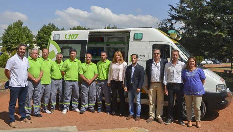 Ambulancia del SAME en Arenales, al inaugurarse el servicio.