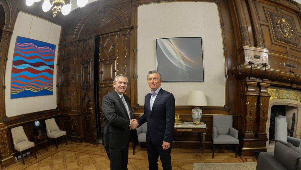 Alberto Fernández se juntó con Mauricio Macri para poner en marcha el proceso de transición hasta el 10 de diciembre.
