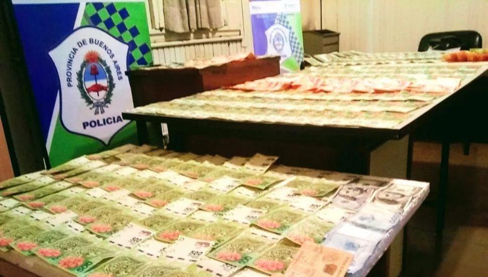 El dinero robado fue incautado.