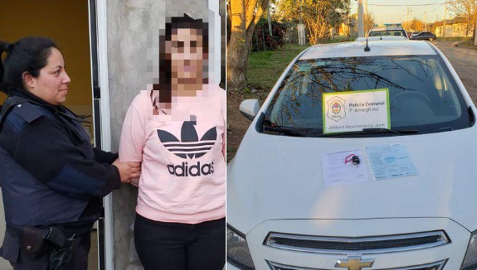 Secuestraron un auto y aprehendieron a una mujer de 28 años