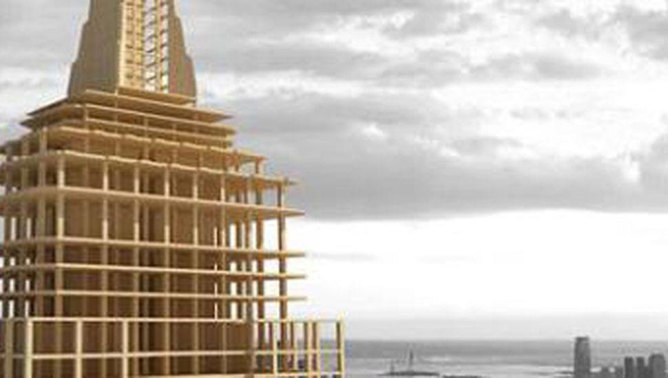 El arquitecto canadiense Michael Green  creó un sistema de construcción para edificar rascacielos de madera.