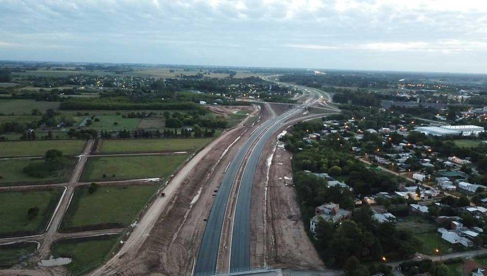 El bypass de Lujan sobre la autopista de Ruta 5 fue inaugurado el mes pasado.