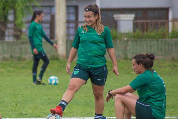 """Antonella Tamburini, """"Pini"""", ayer, en el primer entrenamiento"""