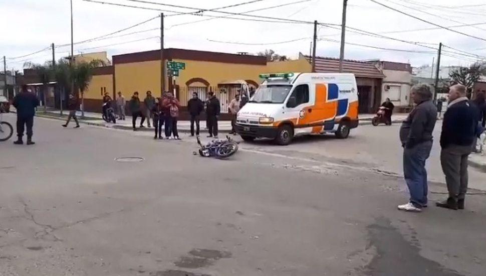 Accidente en Sto. Cabral y Lavalle.