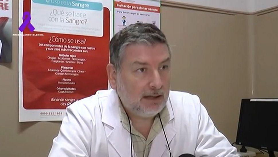 Marcelo Salvarani, Jefe de Hemoterapia del Hospital de Chacabuco.