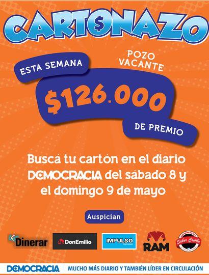 Cartonazo: el pozo de esta semana es de 126 mil pesos