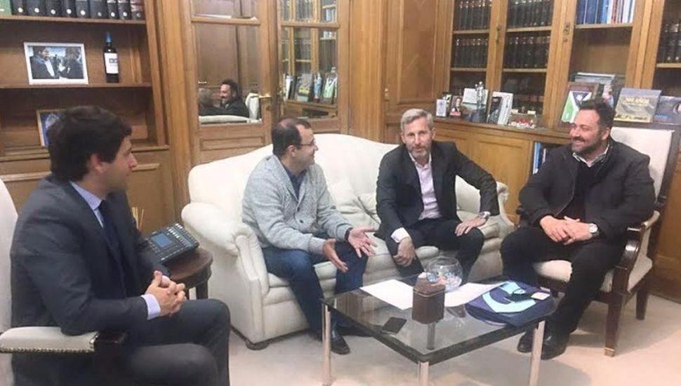 Víctor Aiola mantuvo reuniones de gestión en la Casa Rosada