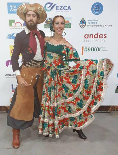 Luis Benavídez y Daniela Gómez, finalistas del Pre Cosquín 2018.