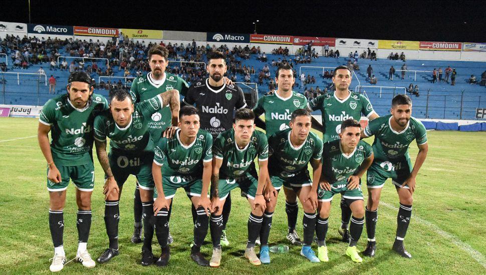 Última formación de Sarmiento del 2019.