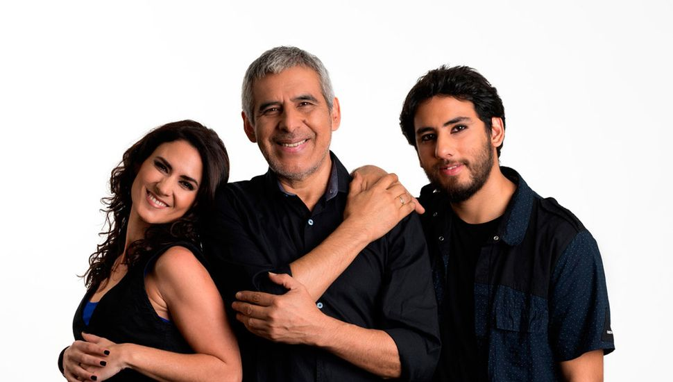 Martina, Peteco y Homero, integrantes de Riendas libres.