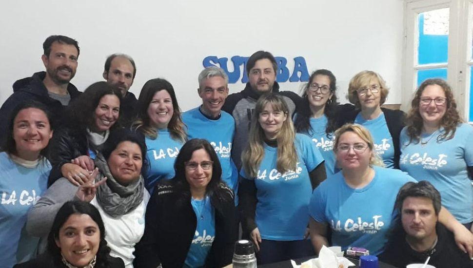 El candidato a intendente del Frente de Todos, Mario Meoni, mantuvo una reunión con docentes y dirigentes de Suteba.
