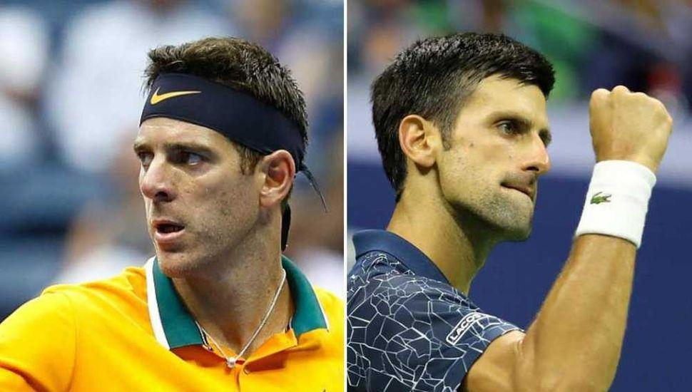 Juan Martín Del Potro y Novak Djokovic.