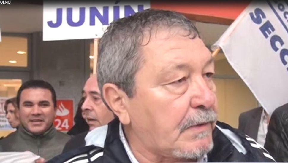 Abel Bueno, secretario general de la Asociación Bancaria Seccional Junín.