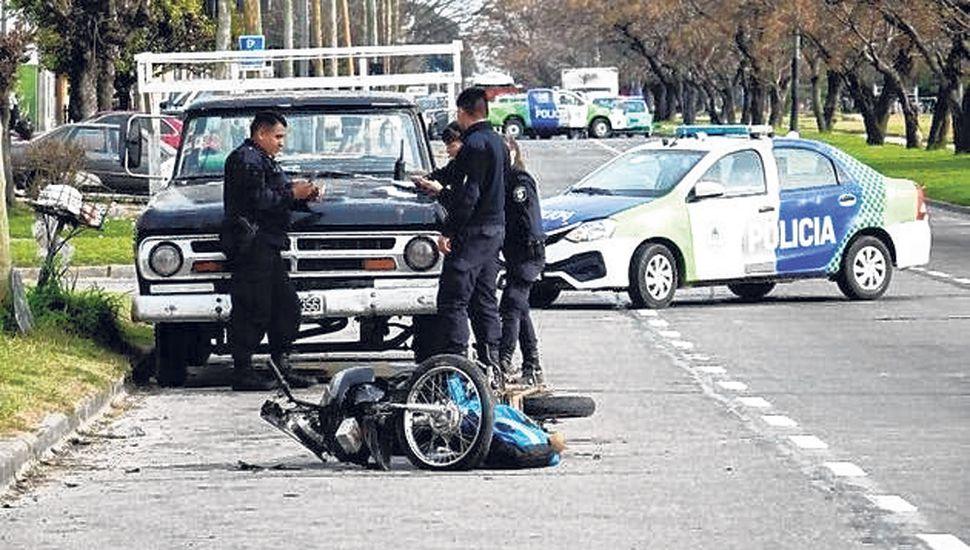 En casi la mitad de los accidentes hay una moto involucrada.
