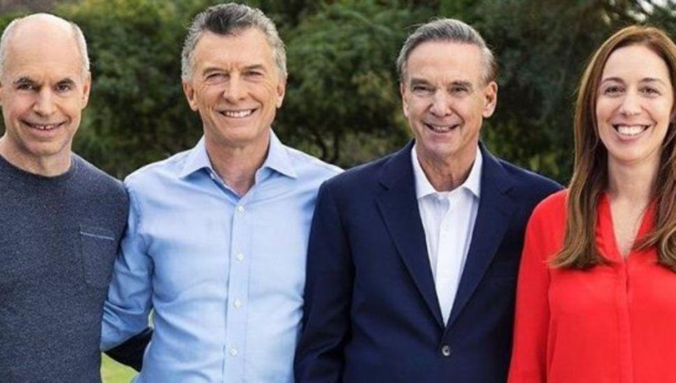 Rodríguez Larreta, Macri, Pichetto y Vidal.