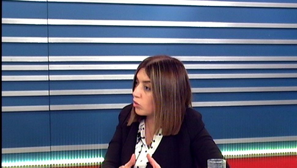 Danya Tavela, en los estudios de TeleJunín.