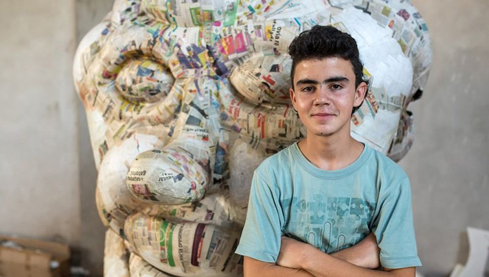 Eros tiene 15 años y es el más joven de todos los carroceros.