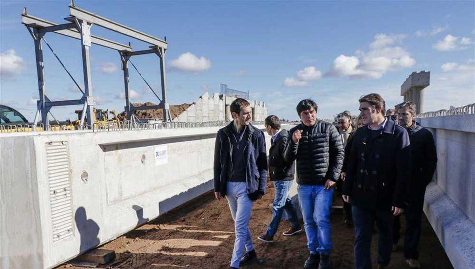 En Junín, el director de Vialidad Nacional destacó el avance de la obra de la autopista 7.