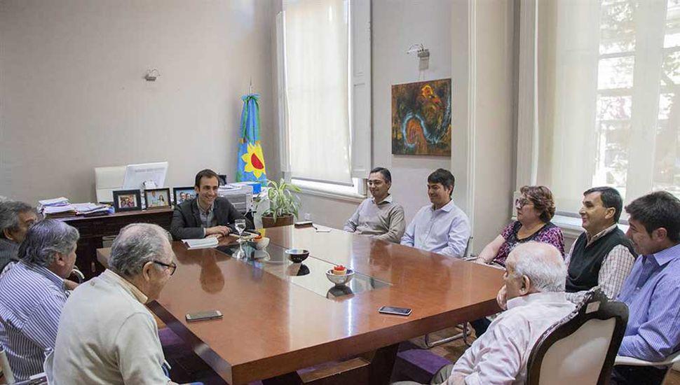 Nuevas autoridades de la Federación de Sociedades de Fomento dialogaron con Petrecca.