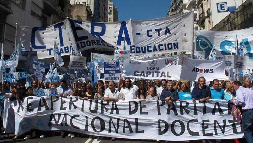 Ctera llamó a un paro  nacional para el 24 de octubre