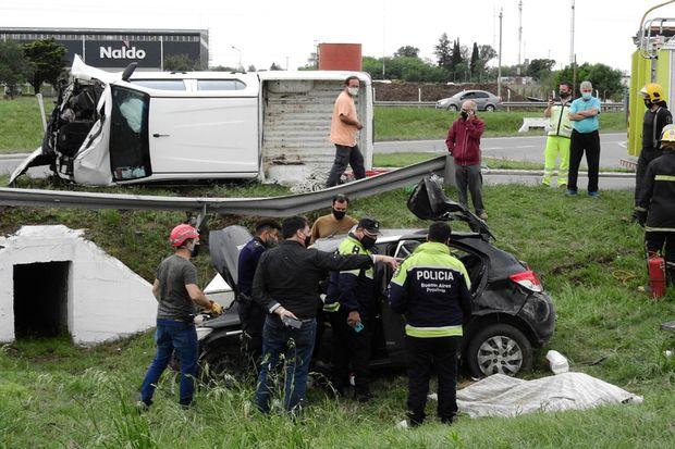 Un hombre perdió la vida en un grave accidente en el cruce de rutas 7 y 65