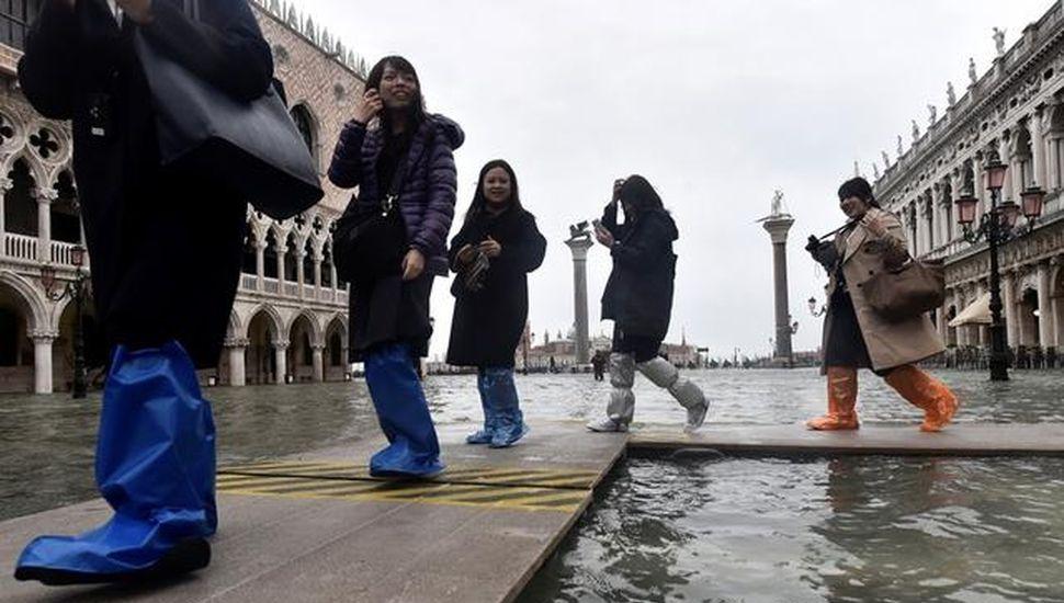 Venecia sufre otra devastadora jornada de marea alta
