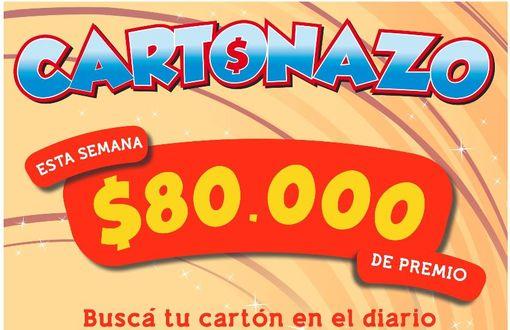 Cartonazo: el pozo subió y esta semana hay 80 mil pesos en efectivo