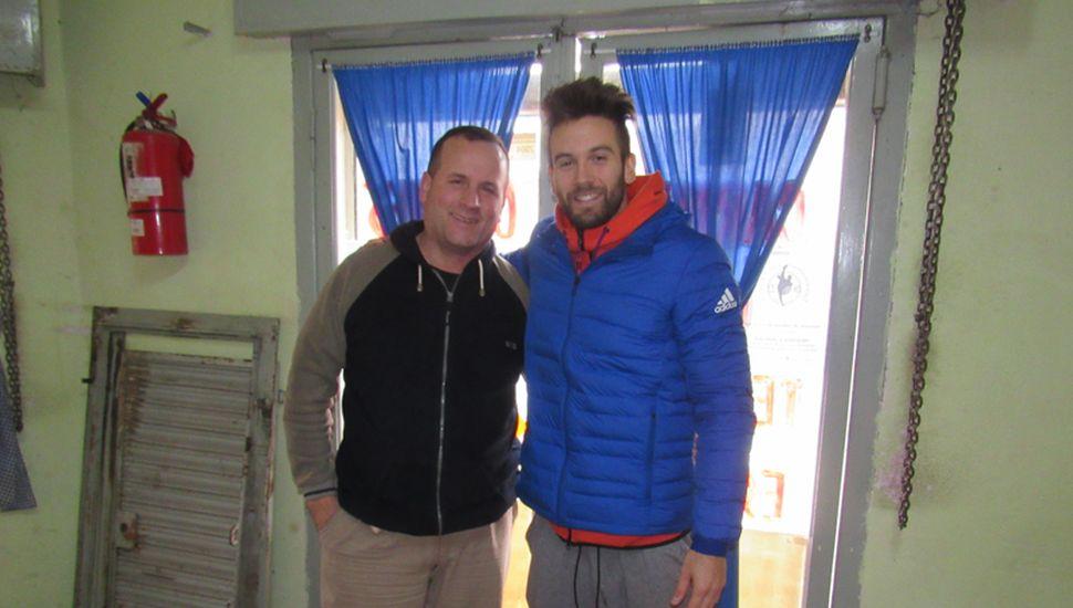 Facundo Zárate llegó ayer para sumarse al Club Atlético Argentino