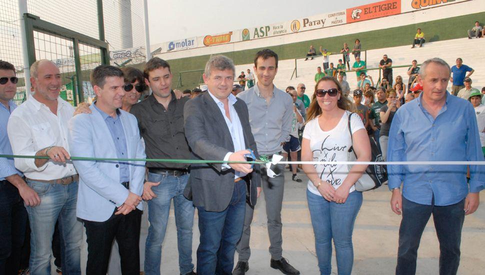 Inauguración de tribuna cabecera, en agosto de 2016.