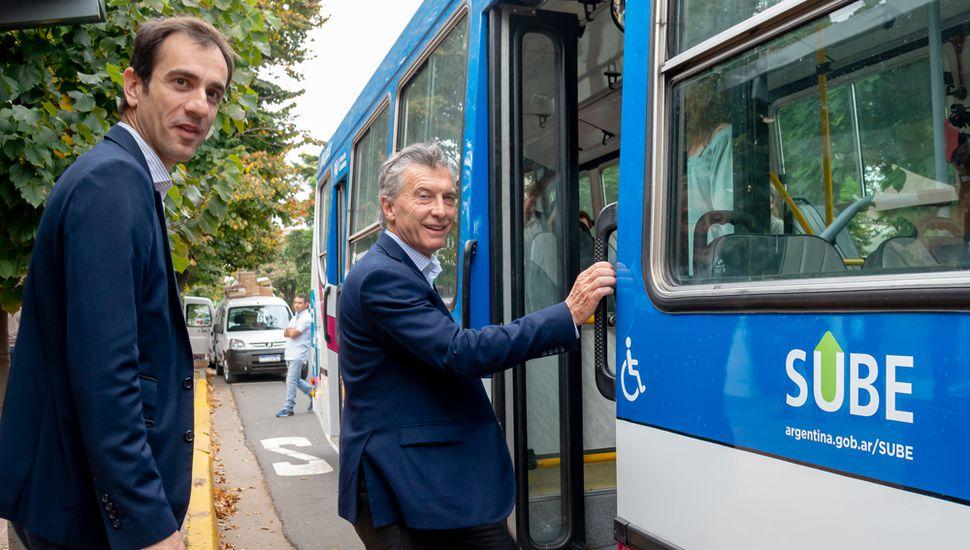 """El regreso del transporte público, un """"arma"""" electoral de la gestión del intendente Pablo Petrecca."""