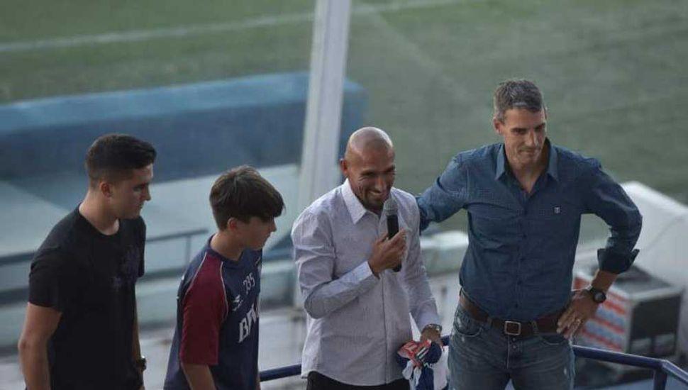 Pablo Guiñazú, ayer, en la conferencia de prensa.