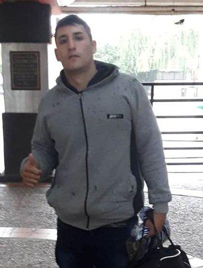 El juninense Lucas García al arribar ayer al CeNARD, donde participa de los entrenamientos con la selección nacional amateur.