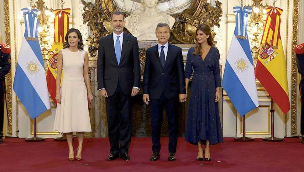 El presidente Macri recibió el apoyo del rey de España