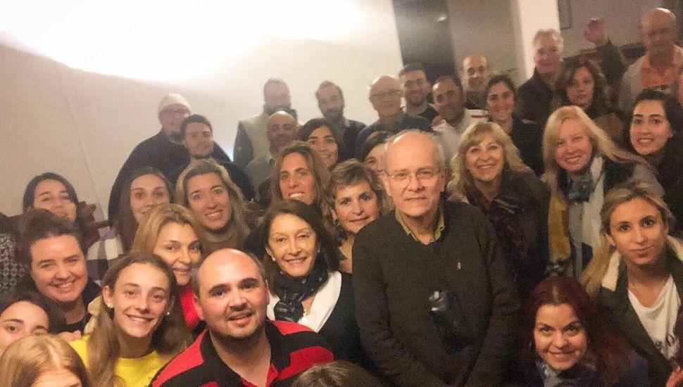 Junto al maestro José María Sciutto, director del Coro Polifónico Nacional.