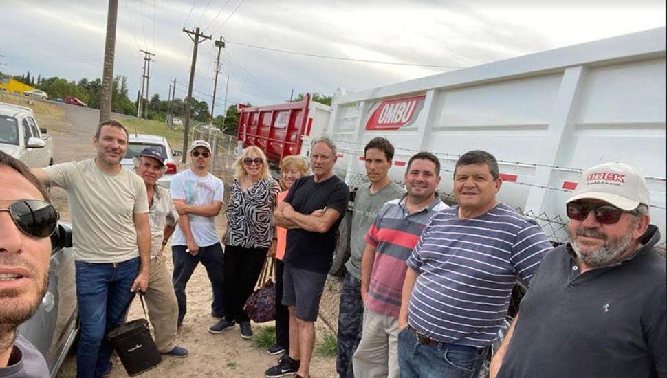 Productores Autoconvocados de Junín se reunieron en el cruce de las Rutas 7 y 65 el pasado mes de diciembre.