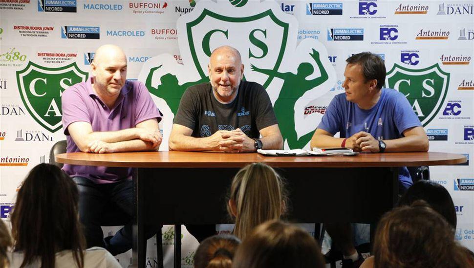 Javier Schiavi, Guillermo Cáceres y Daniel Pueyo.