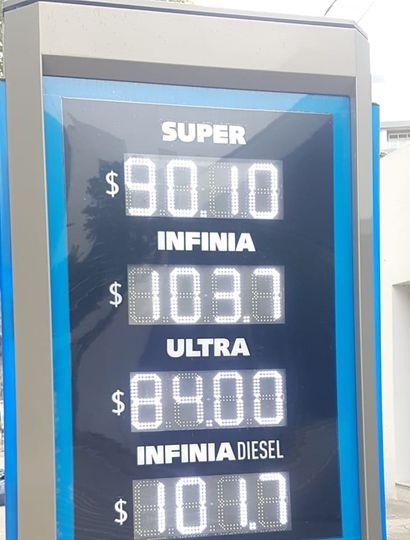 En Junín, los combustibles son 10 pesos más caros que en CABA.