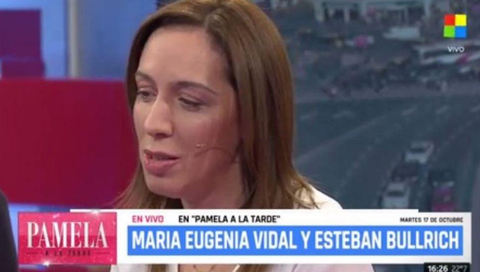 La reacción de María Eugenia Vidal al enterarse del hallazgo de un cuerpo en el río Chubut