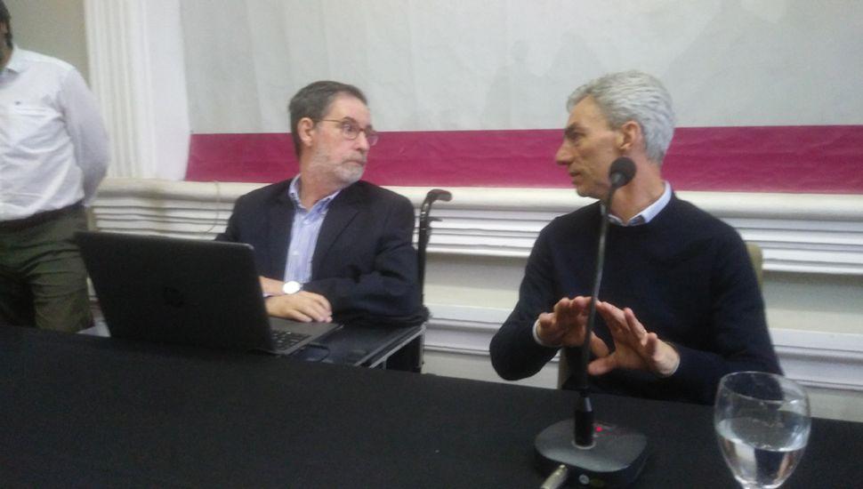 Jorge Rivas y Mario Meoni disertaron en la Unnoba.